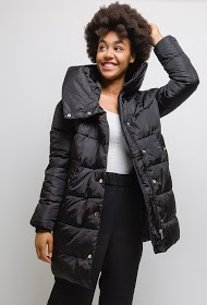 LUCKY JEWEL down jacket with stand-up collar