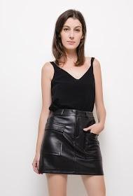 LUCKY JEWEL leatherette skirt