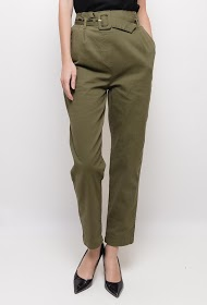 LUCKY JEWEL belted trousers