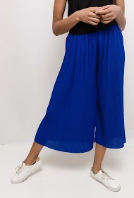 LUCKY JEWEL pleated wide trousers