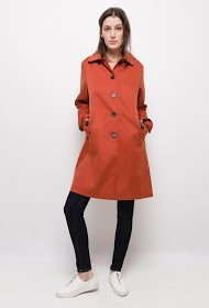 LUCKY JEWEL hooded trench coat