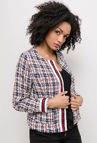 LUCKY JEWEL tweed jacket
