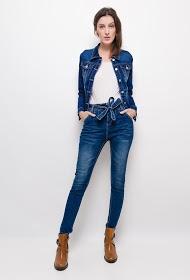 LUIZACCO skinny jeans with belt