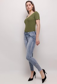 LUIZACCO embroidered skinny jeans