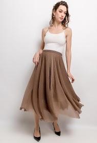 LUIZACCO shiny midi skirt