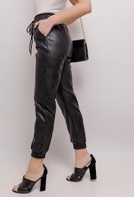 LUIZACCO pantalon en similicuir
