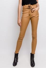 LUIZACCO coated pants with belt