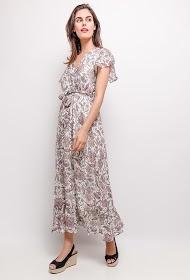 LUIZACCO vestido longo estampado
