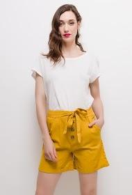 LUIZACCO buttoned linen shorts