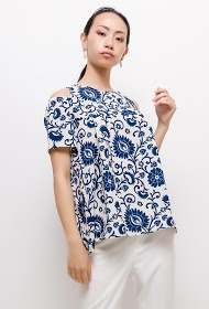 MACMAX patterned blouse