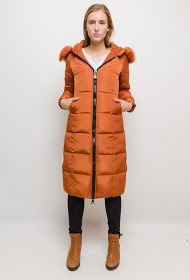 MACMAX long puffer jacket with fur