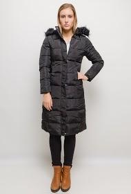 MACMAX long puff coat with fur