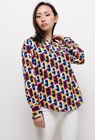 MADISON patterned blouse