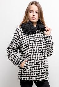MADISON casaco houndstooth