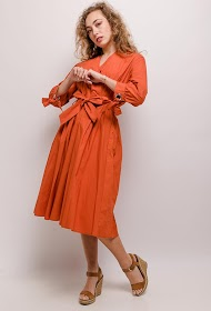 MADISON robe cache-cœur midi