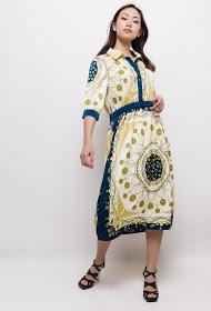 MADISON silky midi dress