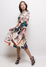 MADISON pleated dress