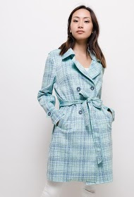 MADISON suede trench coat