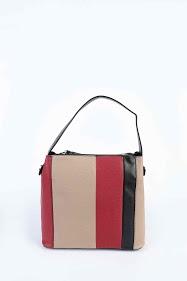 MAX & ENJOY dreifarbige handtasche