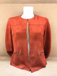 MAX & ENJOY casaco de camurça