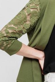 MCC casaco bi-material