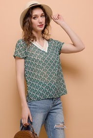 M&G MONOGRAM patterned blouse