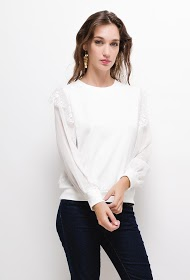 M&G MONOGRAM blouse with lace