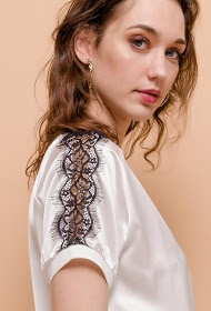 M&G MONOGRAM silky blouse