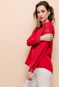 M&G MONOGRAM shirt with lace