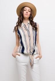 M&G MONOGRAM striped sleeveless shirt
