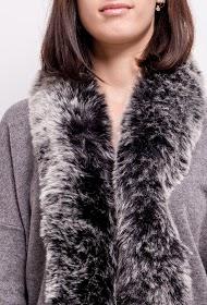 M&G MONOGRAM vest with fur