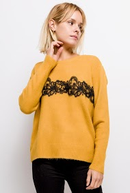 M&G MONOGRAM sweater med blonder