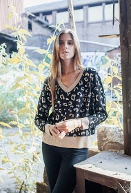 M&G MONOGRAM leopard print sweater