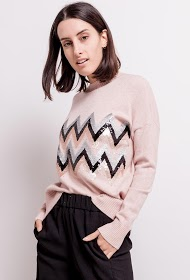 M&G MONOGRAM sweater with sequins
