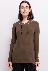 M&G MONOGRAM sweater with decorative zips