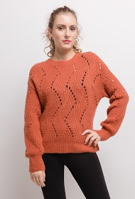 M&G MONOGRAM perforated sweater