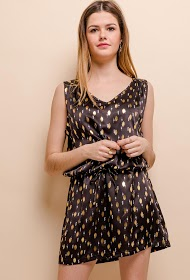 M&G MONOGRAM dress with golden patterns