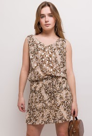 M&G MONOGRAM leopard dress