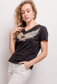 M&G MONOGRAM camiseta con alas de angel