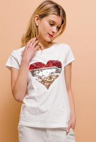 M&G MONOGRAM t-shirt with sequin heart