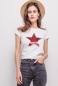 M&G MONOGRAM t-shirt with star in sequins