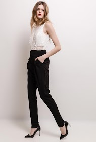 MILY two-tone jumpsuit with lace