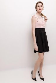 MILY two-tone dress with lace