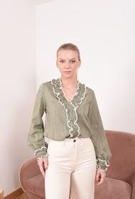 MISSKOO ruffled bluse