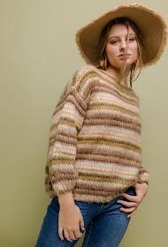 MISSKOO stribet sweater