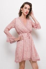 MISSKOO printed wrap dress
