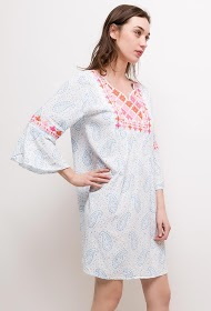 MISSKOO printed and embroidered dress