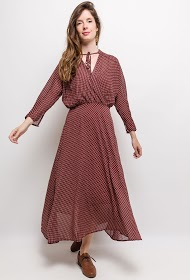 MISSKOO patterned midi dress