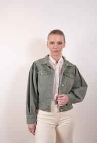 MISSKOO rhinestone knap jakke