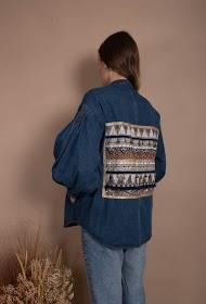 MISSKOO ethnic jeans jacket